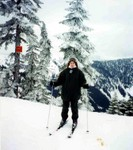 Manda at Stevens Pass in Skykomish Washington in Jan 1995. (original Manda Baldwin)
