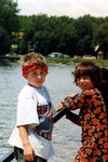 Michael and friend Laura visiting from Germany July 1997. (original Manda Baldwin)