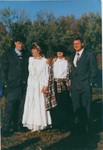 Bob, Manda, John, and Katherine at Manda and Russ Baldwin's wedding.  (Original: Bob Hart)