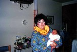 Linda Schlunberg and baby Michael William Hart on October 31, 1990 at St Johns Hospital in Red Wing, MN. (original Manda Baldwin)