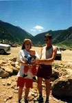 Manda, Charles, Michael in Georgetown,Co July 1,1991 (original Manda Baldwin)
