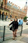 Manda in London, England for her brother Bob's wedding. July 1997. (original Manda Baldwin)