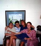 John, Bob, Manda , and Katherine on July 8th 1994 at First United Methodist Church in Red Wing  for John and Lori's wedding rehearsal. (original Manda Baldwin)