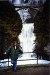 Manda on the way to ski at Mount Bachelor in Oregon in January 1997. (original Manda Baldwin)