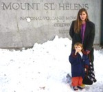 Manda and Michael at Mount St Helens in 1993.