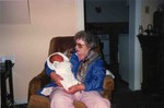 Great Grandma Audilee with Michael William November 1, 1990.
