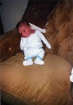 Michael William two days old. 1990. (original Manda Baldwin)