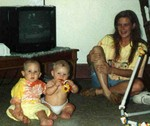 Michael, Drew Anway, and Manda in July 1991.