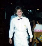 Manda at Raffles Restaurant in Fort Myers Florida June 1990.