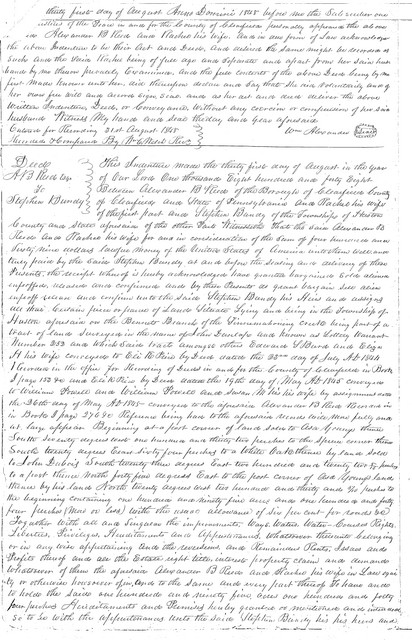 Asa Young and Stephen Bundy deeds, cont.