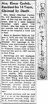 Martha Whaley Carlon, Obituary, Red Wing Republican Eagle, 28 May 1951