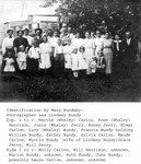 Group picture of Whaley sisters and their families, around 1912.  Mary Hundeby thinks this was a Whaley sister reunion held at Josie's farm when Rose came down for a visit from Hibbing. (Original: Mary Hundeby)