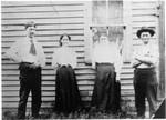 "Francis Bundy, Lucy Bundy, Lucy's sister Josephine (Aunt ""Josie"") and  Joseph Napoleon ""Boney"" Jerry, Josie's husband. (Original: Janet Lucius)"
