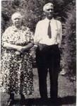 Alex LaBathe and Marie on their 45th wedding anniversary, 1938.  (Original: Alice Robinson)