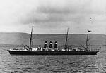 """""""The steamship City of Paris, a 10,499 gross ton twin screw passenger liner, was built at Glasgow, Scotland. Completed in 1889, she soon began a series of record trans-Atlantic passages, earning the """"Blue Ribband"""" for fast passenger service. She was transferred to the U.S. flag in 1893 and renamed Paris, but remained active on the passenger route between the U.S. and England."""" (Picture and caption from http://www.history.navy.mil/photos/sh-civil/civsh-c/c-paris.htm)"""