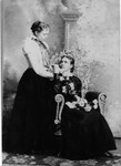 Freda standing, Marie sitting, around 1893-1894.  (Original: Alice Robinson)