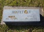 Armine Hostettler, Goldie Hostettler, Lakewood Cemetery, Lake City, MN 44.43445,-92.27245 (Photographed by Bob Hart, Nov 2004)