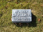 Savilla Russell, Lakewood Cemetery, Lake City, MN, 44.43445,-92.27245 (Photographed by Bob Hart, Nov 2004)