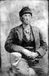"Captioned as ""Unknown Man"" on a Wabasha County historical website.  Since the clothing (right down to the pleating and wrinkles in the shirt) is exactly the same as in the previous portrait, the portrait was very likely painted from this photograph."