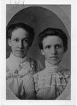 "Lucy Whaley on left, Martha on right. (Martha's descendants have a copy of this picture with ""Martha"" written under the girl on the right, and the resemblance to other pictures of Martha is very strong). (Original: Janet Lucius)"
