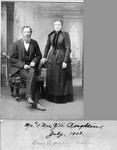 Ziba Boughton (Ben Boughton's brother), and his wife, July 1902. (Original: Mary Hundeby)