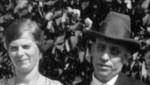 Fred and Ingeborg Winberg, enlargement of previous photograph.  (Original: Bob Hart, Bob Winberg's photo album)